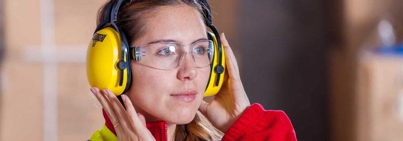 Gehörschutz Frau