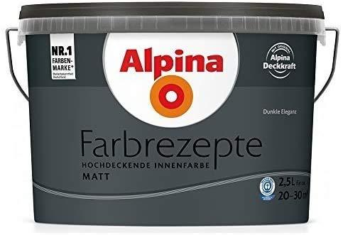 ALPINA Wandfarbe, Farbrezepte 2,5 Liter Dunkle Eleganz Matt, hochdeckende Farbe