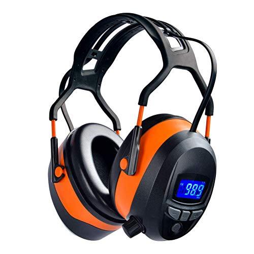 GARDTECH Gehörschutz, Kapselgehörschutz mit Radio/Bluetooth/FM, Sicherheits-Ohrenschützer mit NRR 29dB, Lärmschutzkopfhörer für Männer und Frauen, Schutzkopfhörer zum Schießen und Mähen