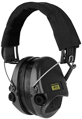 Sordin Supreme PRO X - Aktiver Gehörschutz SOR75302-X-02-G Elektronischer Gehörschützer Gel-Kits Stoffband Schwarze Cups