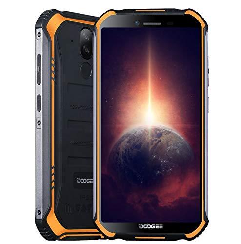 Outdoor Smartphone DOOGEE S40 PRO【4GB RAM 64GB ROM】, Android 10 IP68 Robustes Handy Ohne Vertrag, Helio A25 Octa Core, 5,45'' Gorilla-Glasbildschirm, 13MP Dreifachkamera, NFC-Fingerabdruck Orange