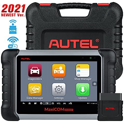 Autel MaxiCOM MK808BT OBD2 Diagnosegerät Auto Scanner mit Alles System & 25 Services Inkl. ABS Bremsblutung, Ölreset, EPB, DPF, BMS, SAS - Verbesserte Version von MK808/ MX808