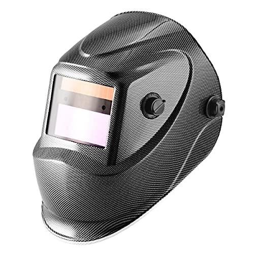STAHLWERK ST-450RC Automatik Schweißhelm Schweißmaske mit einstellbaren Parametern in Carbon Optik, vollautomatisch abdunkelnd inklusive 5 Ersatzscheiben, 7 Jahre Garantie auf Filter