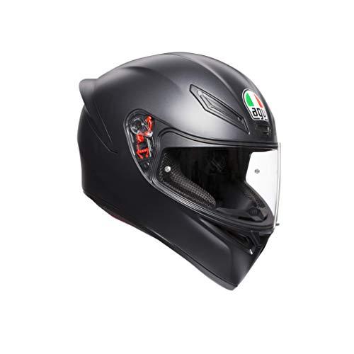 AGV Unisex K1 Agv E2205 Solid Motorrad Helm, Matt Schwarz, S EU