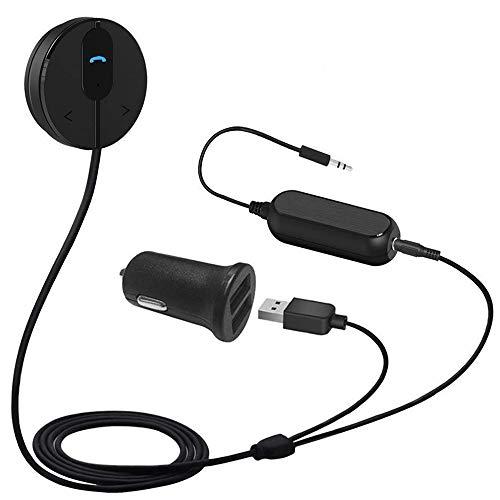 Besign BK01 Bluetooth 4.1 Freisprecheinrichtung, Freisprechanlage, Bluetooth Empfänger für KFZ Auto Lautsprechersystem mit 3.5 mm Klinke, Magnetic Base, Ground Loop Noise Isolator/Entstörfilter