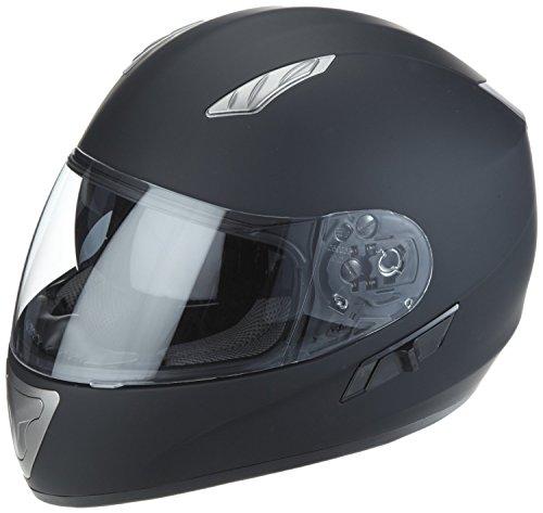 Protectwear H520-ES-L Motorradhelm,Integralhelm mit Integrierter Sonnenblende, Größe L, Schwarz-Matt