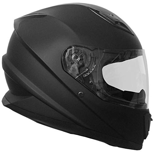 Integralhelm Helm Motorradhelm RALLOX 62 schwarz matt Größe XL Sturzhelm