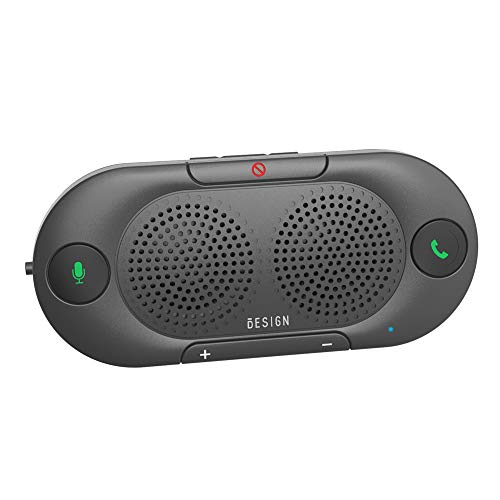 Besign BK06 Kfz Bluetooth V5.0 Freisprechanlage Visier Auto Kit, verbindet mit Siri & Google Assistant, Auto EIN Aus, Wireless Freisprecheinrichtung für Auto, Dual 2W kraftvoller Lautsprecher