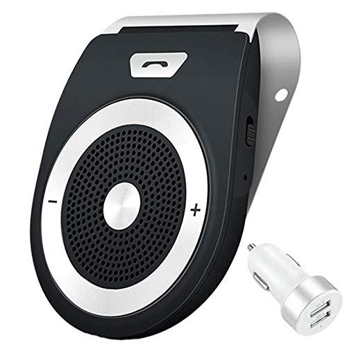 Aigital Auto Power ON Kfz Freisprecheinrichtung Bluetooth Auto Freisprechanlage Visier Car Kit mit eingebautem Bewegungssensor, Unterstützt GPS, Musik, Handsfree für 2 Telefone gleichzeitig