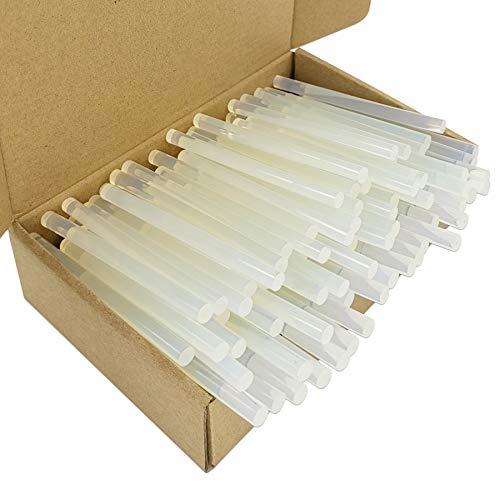 FZGUSYAF 120 Stücke Heißkleber Sticks 7x100mm Transparent Klebstoff für 7mm Heißklebepistole - Transparent